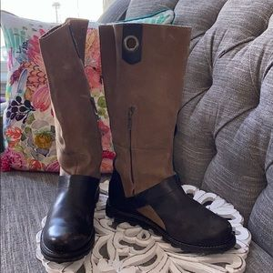 Sorel Tall Leather Boots Women's 7.5